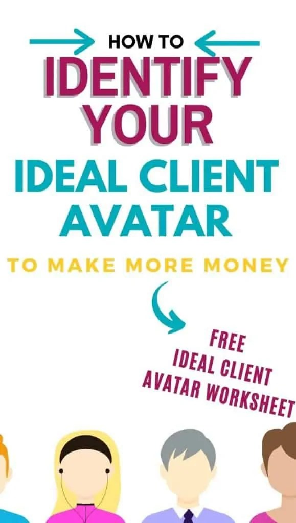 ideal client avatar people with blank faces