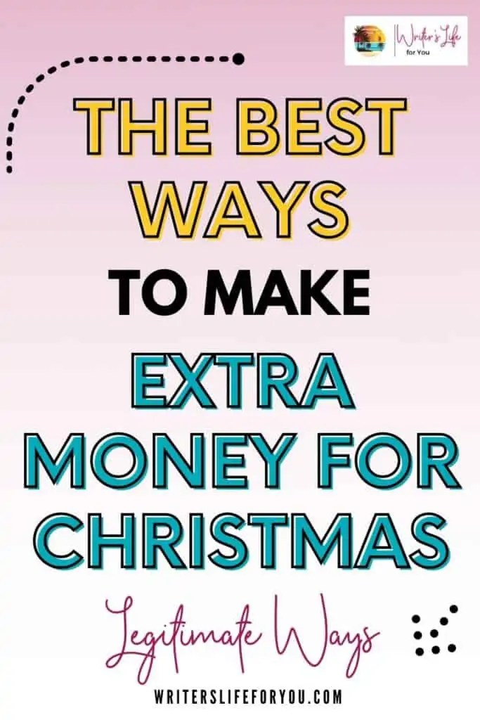 the best ways to make extra money for christmas pink background