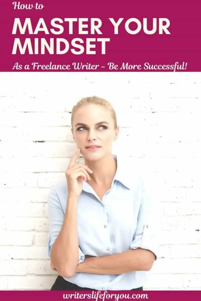 mastering your mindset - woman in a white shirt thinking