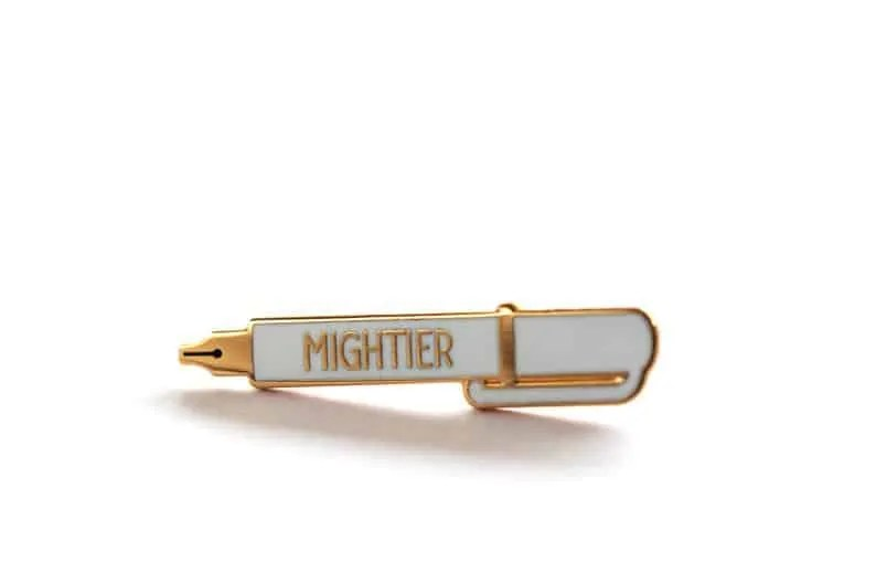 mightier pen pin