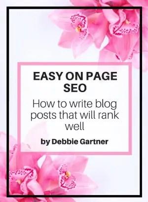 Debbie Gartner Easy On-Page SEO book