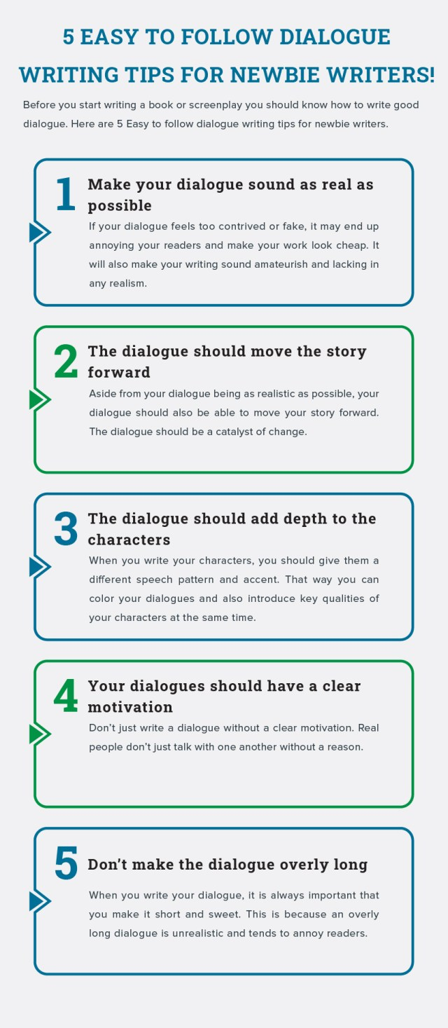 13 Easy to Follow Dialogue Writing Tips for Newbie Writers!