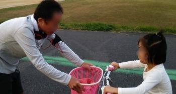 パパと娘が自転車練習
