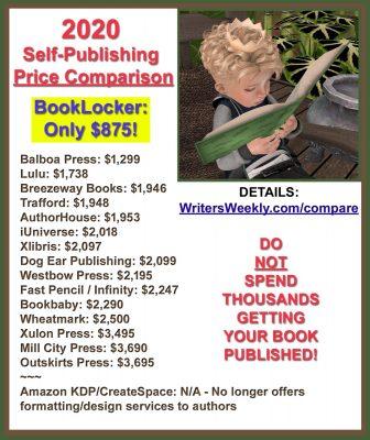 2020 Self-Publishing Price Comparison!