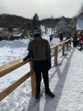 Mason at the ski resort