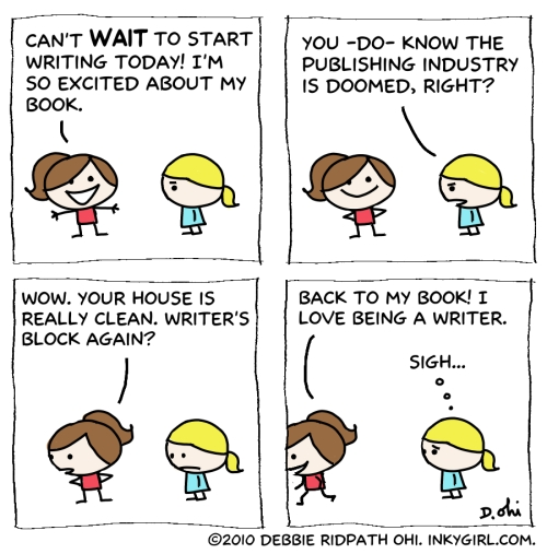 Comic: Good and Bad Writing Days