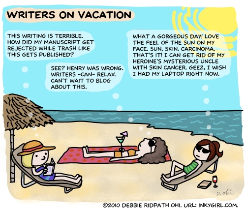 Comic: Writers On Vacation