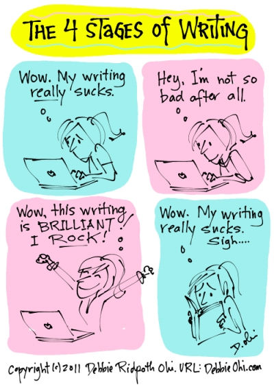 4 Stages Of Writing, by Debbie Ridpath Ohi