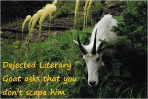 dejected literary goat
