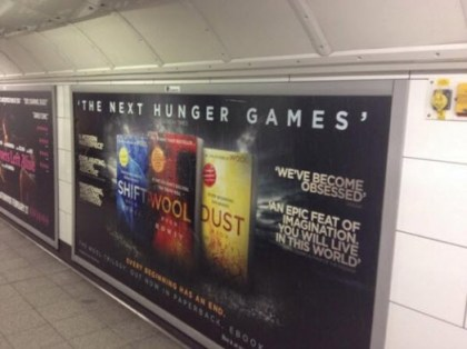 Random House UK advertising in London's Underground. Photo by Sam Missingham