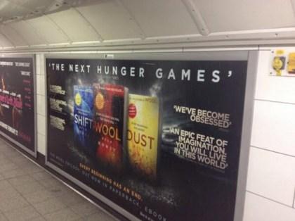 Random House UK advertising in London's Underground. Photo by Sam Missingham