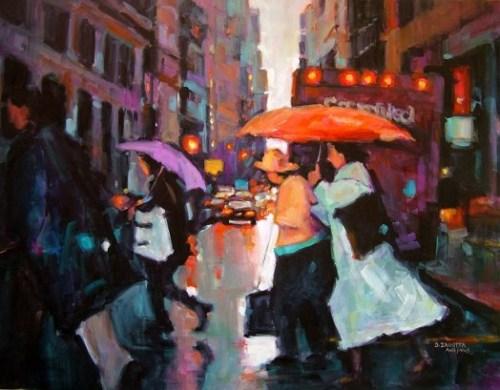 Zagotta, The Orange Umbrella 22x30