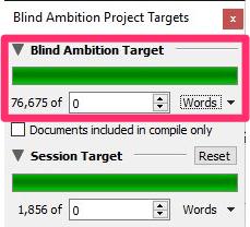 win project target window
