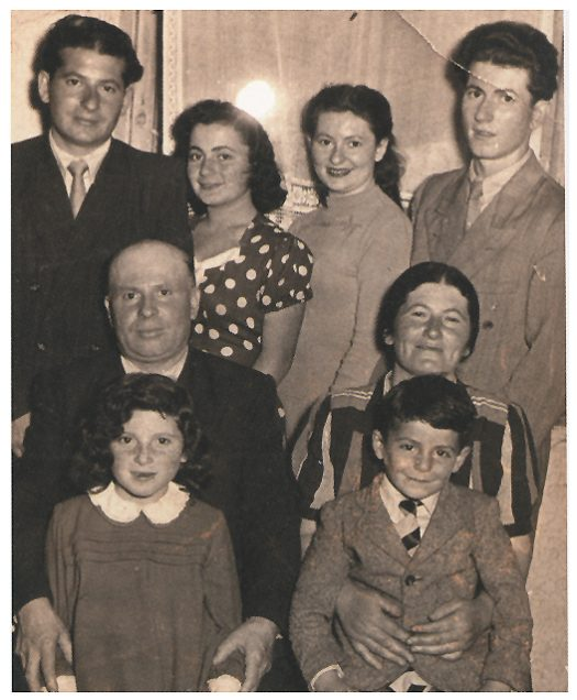 Helen Maryles Shankman's mother's family taken after the war in the Foehrenwald DP camp in Germany. Photo property of the author, all rights reserved.