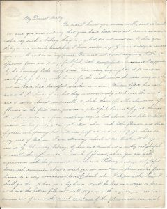One of many original letters from the 1840s