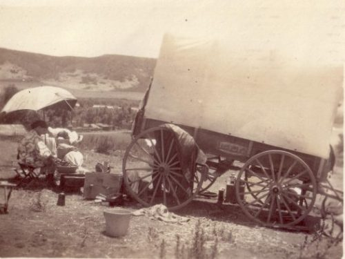 Kim's great-grandmother doing the wash - San Diego 1906