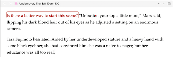 image showing an annotation in a paragraph