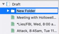 folder ready to rename