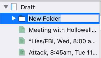 folder ready to rename