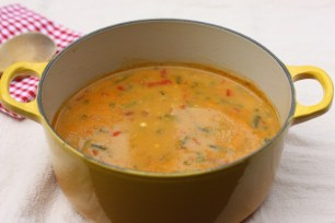 creamy corn and vegetable soup recipe | writes4food.com