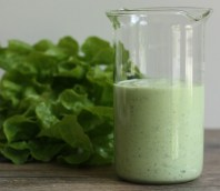 low-fat Green Goddess salad dressing recipe | writes4food.com