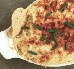 baked corn and ricotta dip for tortilla chips | writes4food.com