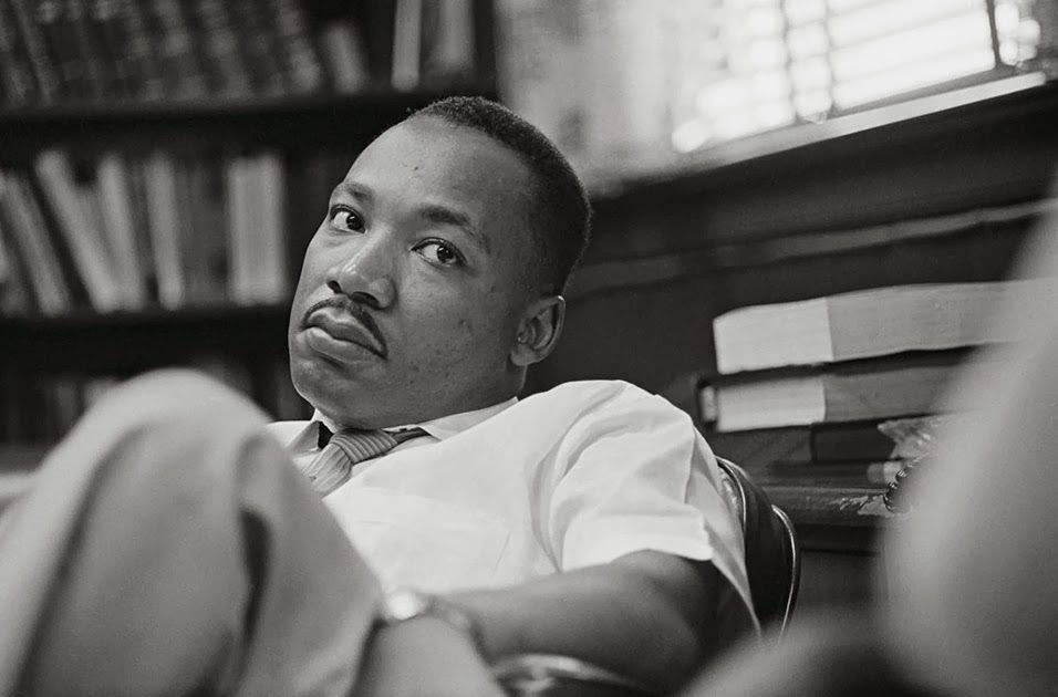 black and white picture of martin luther king