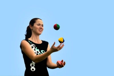 Something about juggling.