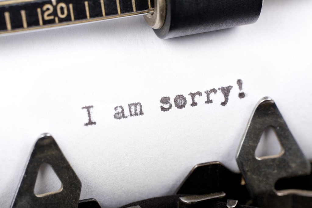 Something about an apology