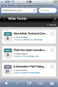 WriteTechie Mobile Site