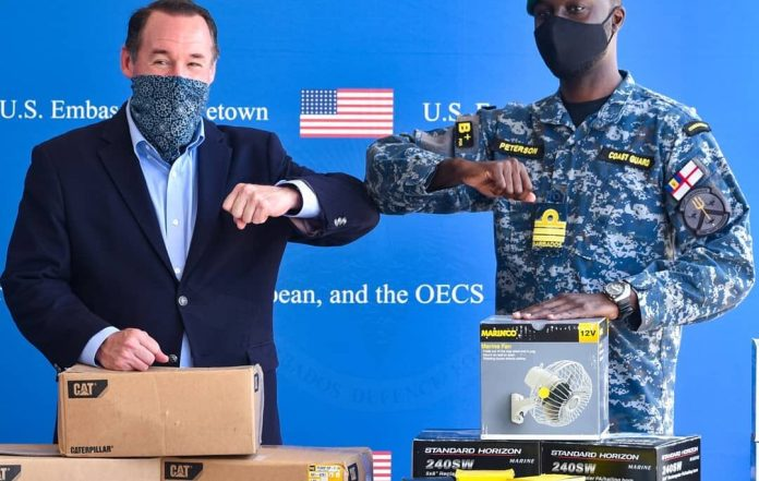 US Southern command donates maritime parts to Barbados Coast Guards