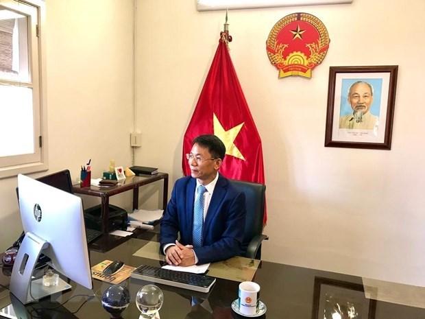 Vietnamese Ambassador virtually met secretary of Foreign Affairs and Foreign trade of Barbados