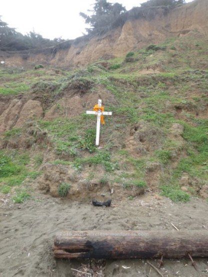 Dog Crucifix on Hillside