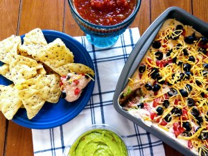 skinny 7 layer bean dip