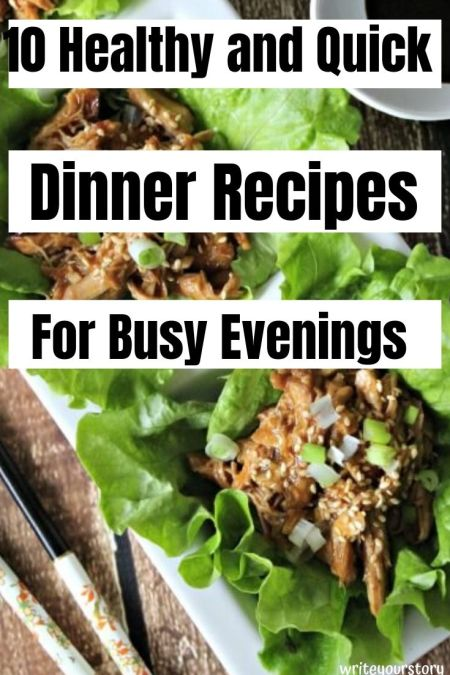 list of 10 meals for dinner / healthy dinners for weight loss / easy healthy dinners