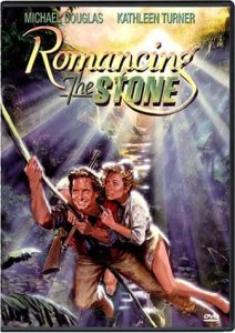 Romancing the Stone starring Michael Douglas & Kathleen Turner