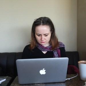Freelance Writer, hard at work