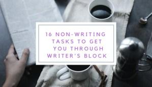 get over writer's block