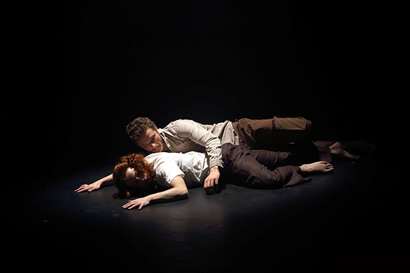 Miranda MacLetten and Daniel Whiley in John Ross's Blink (photo: Chris Jackson)