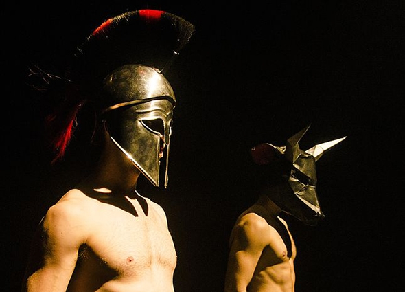 Joseph Mercier and Jordan Lennie in Theseus Beefcake