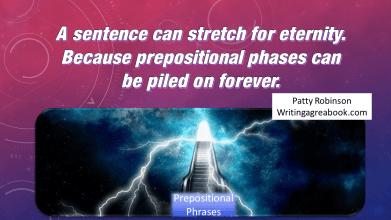 Sentences stretch prepositions