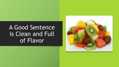 sentence clean & full of flavor