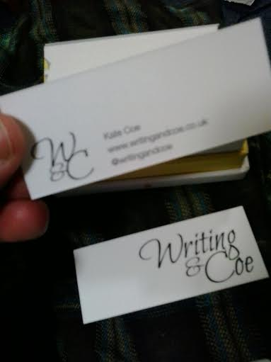 Writing and coe business cards