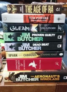 Reading pile Oct 15