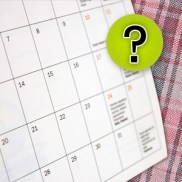 question mark calendar