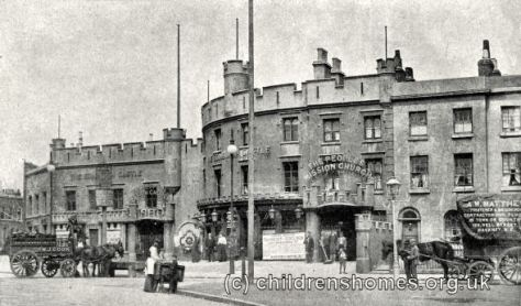 Edinburgh Castle site, Limehouse, c.1896.