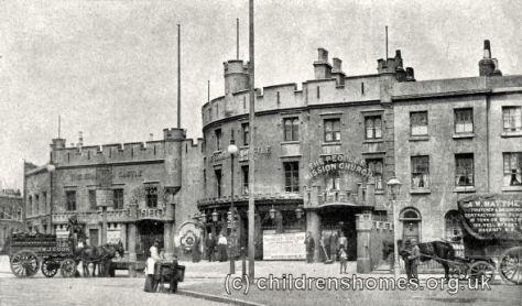 Edinburgh Castle site, Limehouse, c.1896.