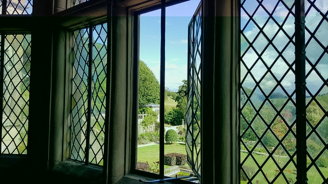 The framing of space at Haddon Hall