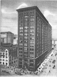 Monandock Building, Chicago, seen from VanBuren Street.