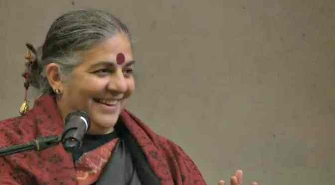 Reading Vandana Shiva for the first time
